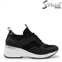 Pantofi dama sport din piele si velur – 35495