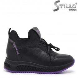 Pantofi dama sport din piele naturala cu platforma ascunsa – 35661