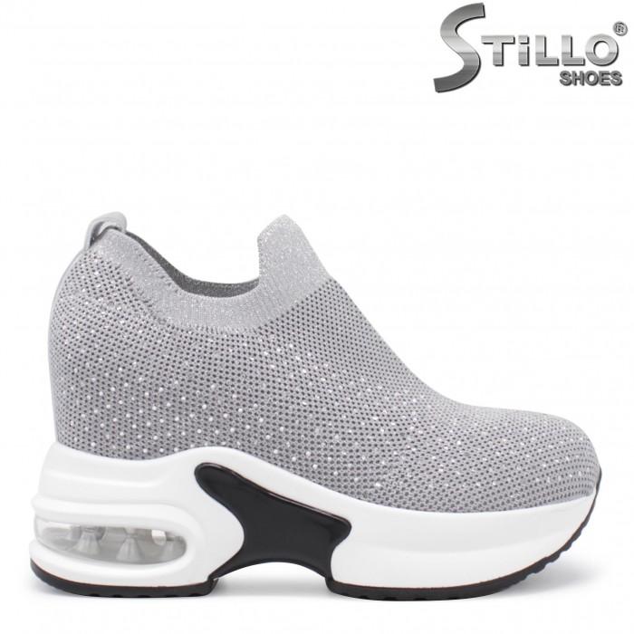 Pantofi sport de culoare gri cu platforma – 35832