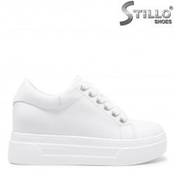 Sneakers dama de culoare alb din piele naturala – 35834