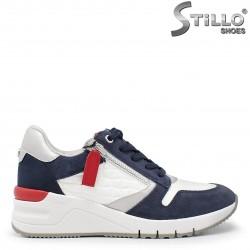 Pantofi dama sport din piele naturala multicolor – 35860