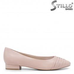 Pantofi dama de culoare oudra din piele naturala model  TAMARIS – 35864