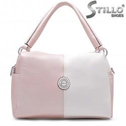 Geanta dama de culoare roz perlat si bej – 35908