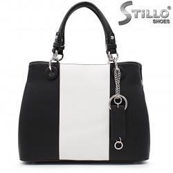 Geanta dama moderna de culoare alb si negru - 35941