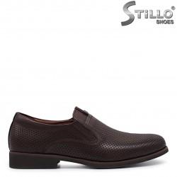 37, 38, 39 numere - Pantofi barbati de culoare maro din piele naturala – 36000
