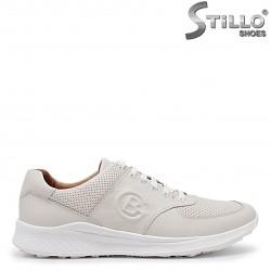 Pantofi barbati sport de culoare bej din piele naturala – 36003