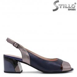 Sandale dama de culoare albastru perlat - 36022