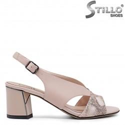 Sandale dama elegante de culoare bej - 36026