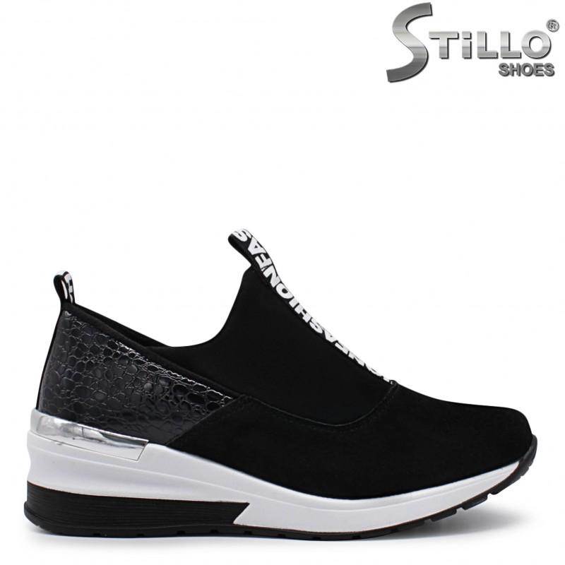 Pantofi dama sport cu platforma si imprimanta- 36038