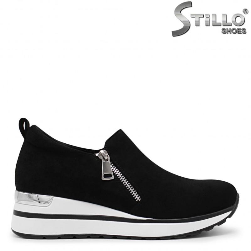 Pantofi dama sport cu fermoar si platforma- 36047
