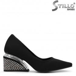 Pantofi dama cu toc de efect cu pietricele - 36084