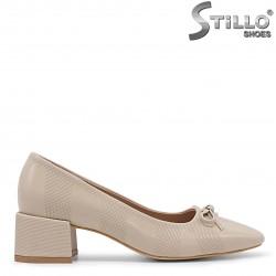 Pantofi dama cu toc patrat - 36093