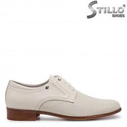Pantofi barbati de culoare bej marimi mari de la  46 pana la  49 - 36008