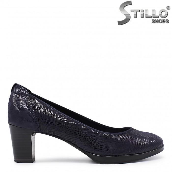 Pantofi dama din piele de culoare albastru model TAMARIS – 36021
