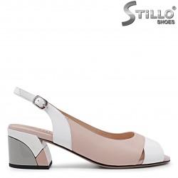 Sandale dama cu toc mijlociu colorat - 36024