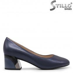 Pantofi dama eleganti de culoare albastru cu toc mijlociu -36053