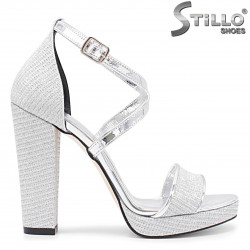 Sandale dama cu toc inalt si curea incrucisata - 36095