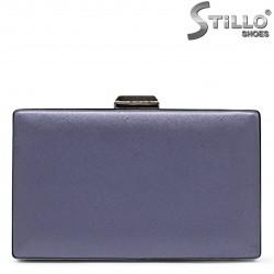 Geanta pentru banchet de culoare albastru  tip cutie – 36173