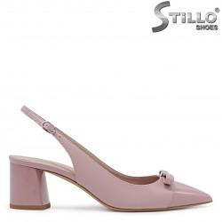 Pantofi dama de culoare roz cu partea din spate decupata – 36177
