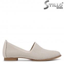 Pantofi dama de vara de culoare bej din piele naturala – 36178