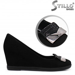 Pantofi dama din velur cu toc olandez- 36198