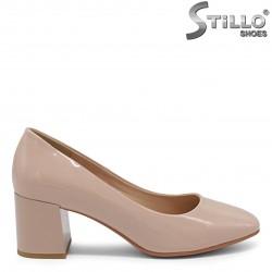 Pantofi dama de culoare bej cu toc mijlociu - 36211