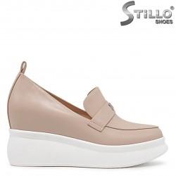 Pantofi dama de culoare bej cu platforma  - 36232