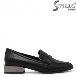 Pantofi dama cu toc jos metalic- 36243