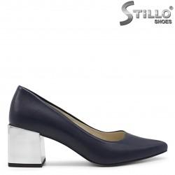 Pantofi dama de culoare albastru cu toc mijlociu- 36254