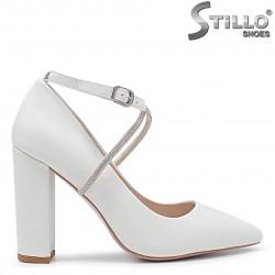 Pantofi de nunta cu toc gros - 36268