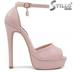 Sandale dama de culoare roz cu toc inalt si platforma  marimi de la nr 33,34 pana  la 37 - 36284