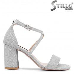 Sandale dama pentru banchet de culoare argintiu - 36285