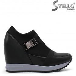 Pantofi dama sport cu platforma din piele si strech - 36297