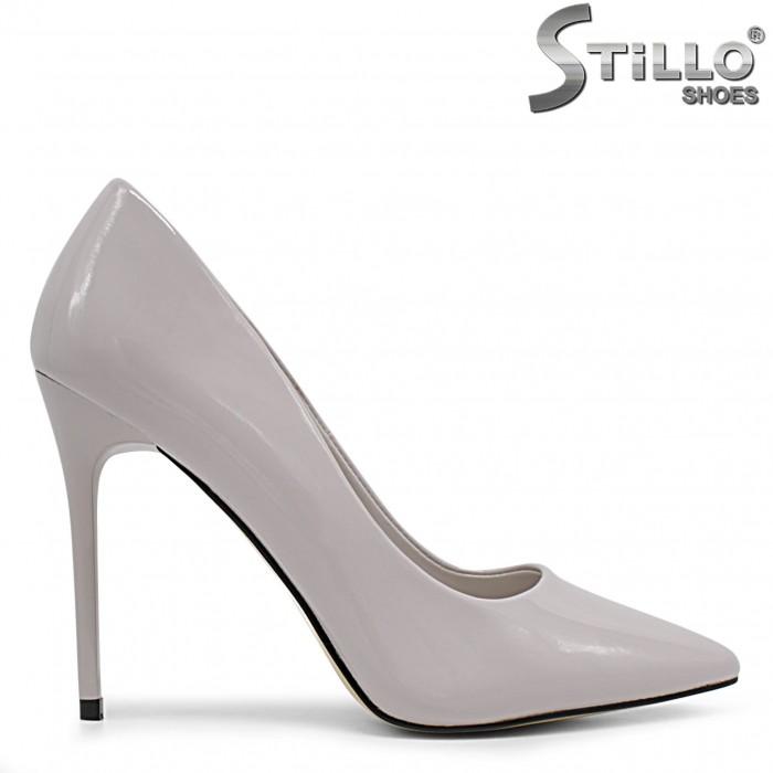 Pantofi dama eleganti de  culoare gri - 36343