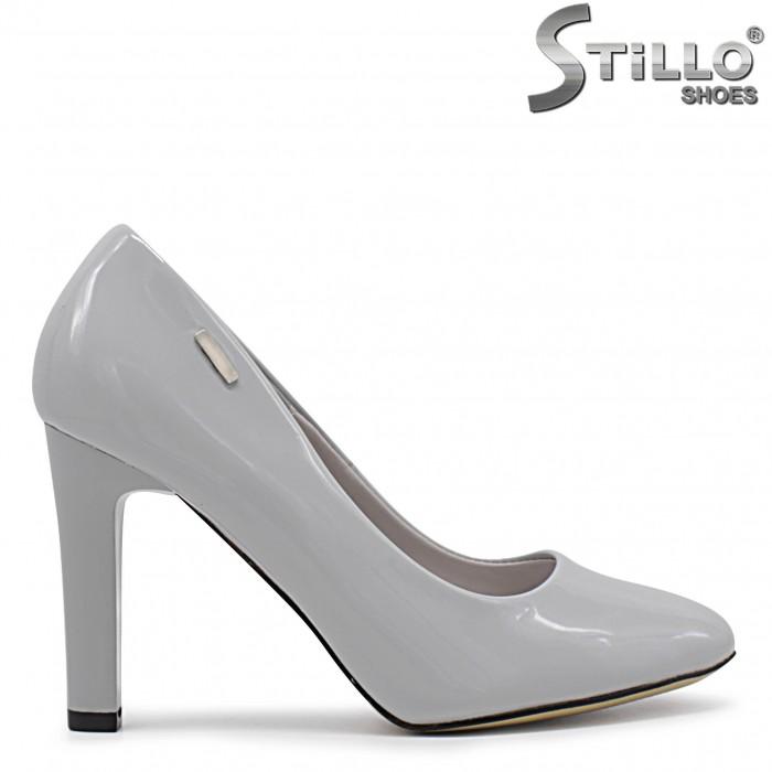 Pantofi dama de culoare gri cu toc inalt – 36347