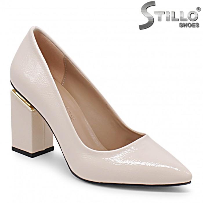 Pantofi dama de culoare roz cu toc inalt – 36356