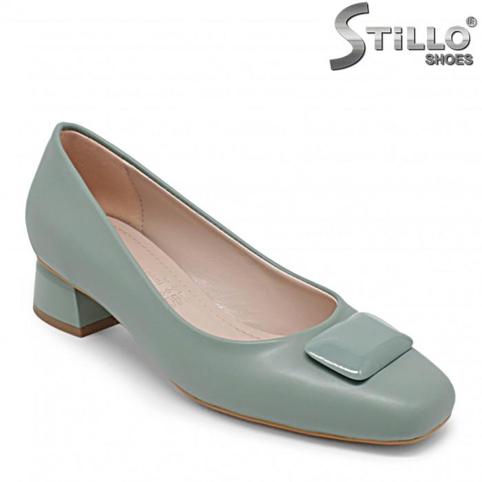 Pantofi dama de culoare verde cu toc jos – 36361