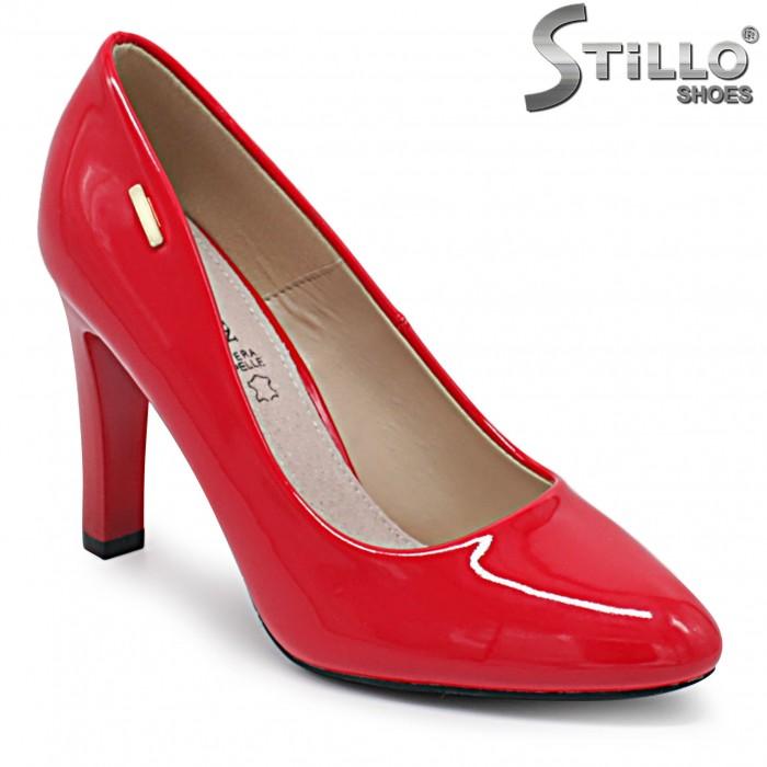 Pantofi dama de culoare rosu cu toc inalt – 36369