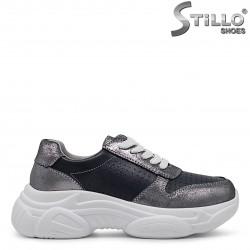 Sneakers dama de culoare gri -36385