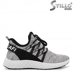 Pantofi barbati de culoare gri din textil – 36409