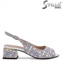 Marimea 34  - Sandale dama din piele naturala multicolor – 36498