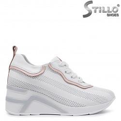Pantofi dama sport din piele naturala si cu platforma – 36511
