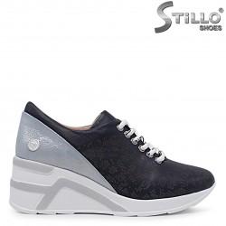 Pantofi sport de culoare albastru din piele naturala – 36513