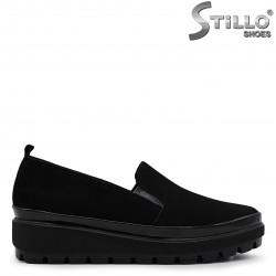 Pantofi dama din velur natural cu platforma  – 36515