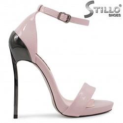 Sandale pentru banchet de culoare roz cu toc inalt – 36537