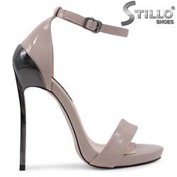 Sandale pentru banchet  cu toc inalt de culoare capucino – 36538