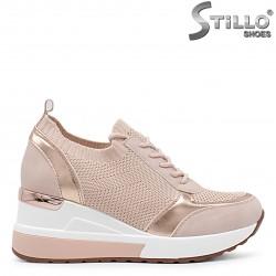Pantofi roz sport cu platforma  – 36559