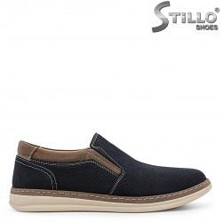 Pantofi barbati sport de culoare albastru si nubuc  – 36565