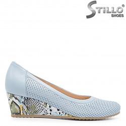 Pantofi dama de culoare albastru deschis si cu platforma – 36617