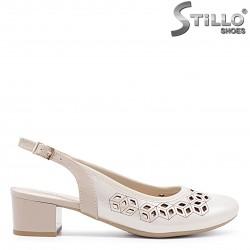 Pantofi dama din piele naturala si partea din spate decupata – 36618